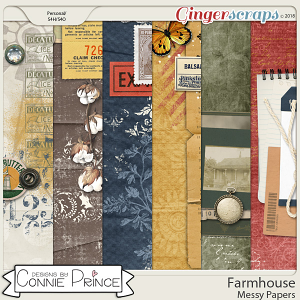 Farmhouse - Messy Paper Pack by Connie Prince