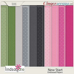 New Start Embossed Papers by Lindsay Jane