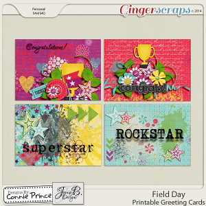 Field Day - Printable Greeting Cards