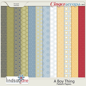 A Boy Thing Pattern Papers by Lindsay Jane