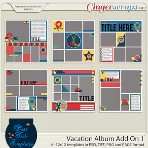 Vacation Album Add On 1 Templates by Miss Fish