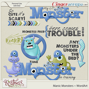 Manic Monsters WordArt