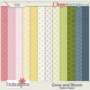 Grow and Bloom Pattern Papers by Lindsay Jane