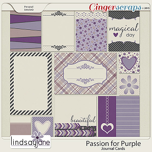 Passion for Purple Journal Cards by Lindsay Jane