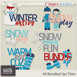 All Bundled Up Word Art Titles by Aimee Harrison