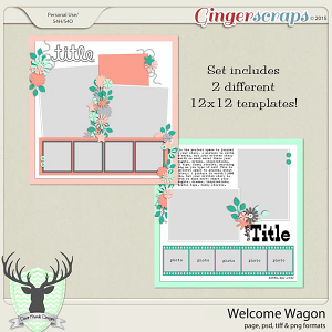Welcome Wagon Templates by Dear Friends Designs