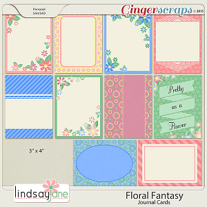 Floral Fantasy Journal Cards by Lindsay Jane