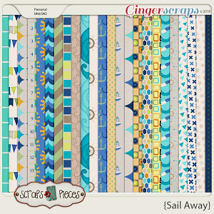 Sail Away Papers by Scraps N Pieces