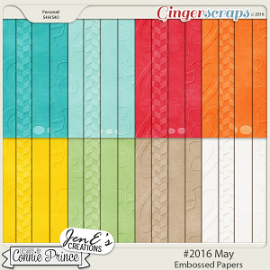 #2016 May - Embossed Papers