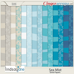 Sea Mist Extra Papers by Lindsay Jane