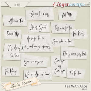 Tea With Alice Words