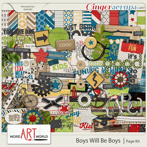 Boys Will Be Boys Page Kit