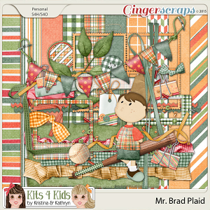Brad Plaid Page Kit by K4K