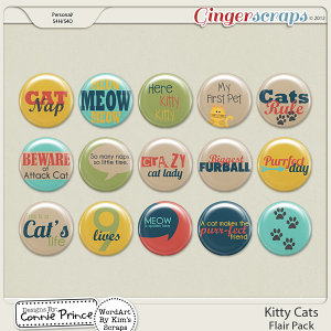 Retiring Soon - Kitty Cats - Flair Pack