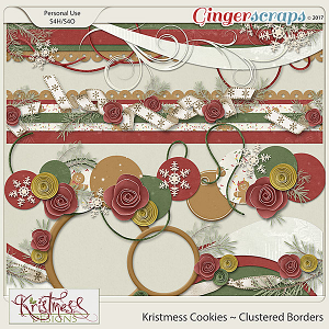 Kristmess Cookies Clustered Borders
