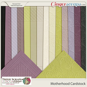 Motherhood Cardstock by Trixie Scraps Designs