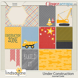 Under Construction Journal Cards by Lindsay Jane