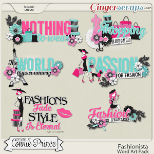 Fashionista - Word Art