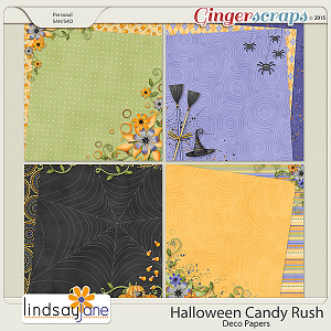 Halloween Candy Rush Deco Papers by Lindsay Jane