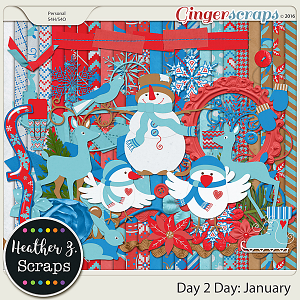 Day 2 Day: January KIT by Heather Z Scraps