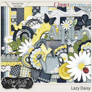 Lazy Daisy Digital Scrapbook Kit