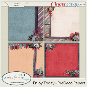 Enjoy Today - PreDecorated Papers
