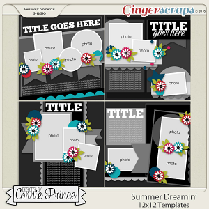 Summer Dreamin' - 12x12 Templates (CU Ok)