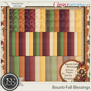 Bounti-Fall Blessings Pattern Papers