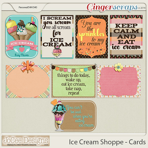 Ice Cream Shoppe Journal Cards