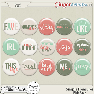 Simple Pleasures - Flair Pack