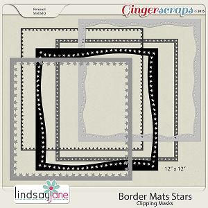 Border Mats Stars by Lindsay Jane