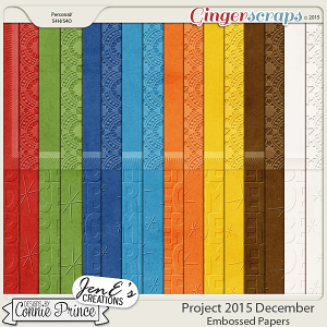 Project 2015 December - Embossed Papers
