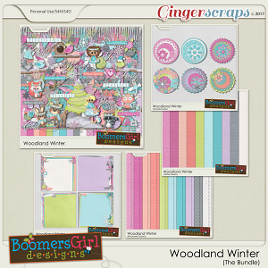 Woodland Winter Bundle by BoomersGirl Designs