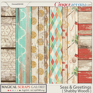 Seas & Greetings (shabby barnwood papers)