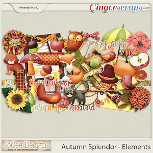 Autumn Splendour Elements by JoCee Designs