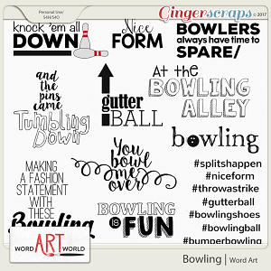 Bowling Word Art