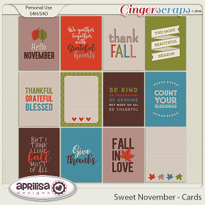 Sweet November - Cards by Aprilisa Designs