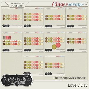 Lovely Day Photoshop Styles Bundle