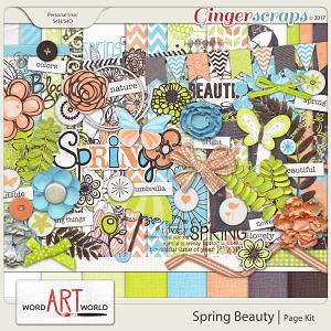 Spring Beauty Page Kit