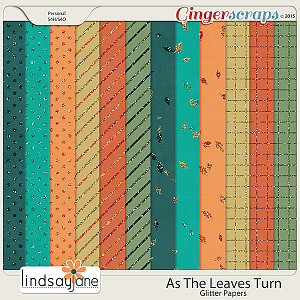 As The Leaves Turn Glitter Papers by Lindsay Jane