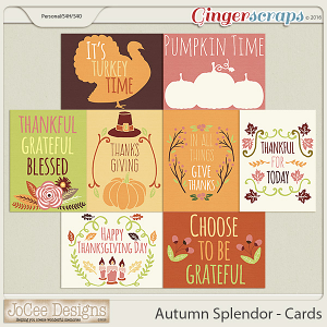 Autumn Splendor Cards by JoCee Designs