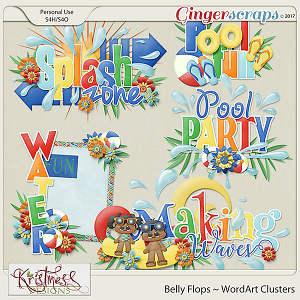Belly Flops WordArt Clusters