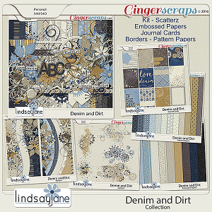 Denim and Dirt Collection by Lindsay Jane