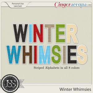 Winter Whimsies Alphabets