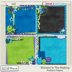 Retiring Soon - Monster In The Making - PreDeco Papers