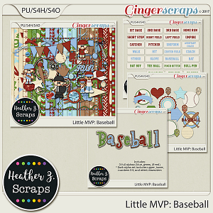 Little MVP: Baseball BUNDLE by Heather Z Scraps