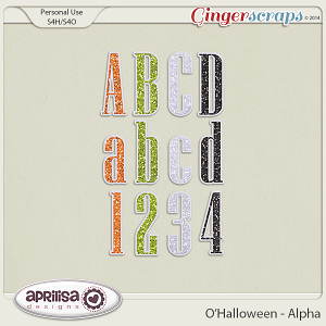 O'Halloween Alpha by Aprilisa Designs