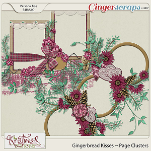 Gingerbread Kisses Page Clusters