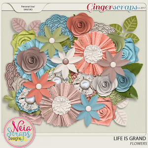 Life Is Grand - Flowers - By Neia Scraps