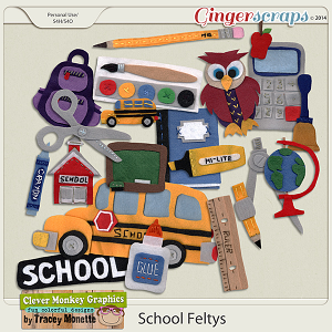 School Feltys by Clever Monkey Graphics